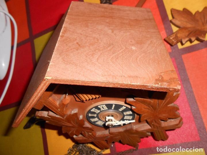 Relojes de pared: BONITO RELOJ CUCU-CUCO MECÁNICO DEL PRESTIGIOSO FABRICANTE HUBERT HERR TRIBERG(SELVA NEGRA ALEMANA). - Foto 7 - 177422252