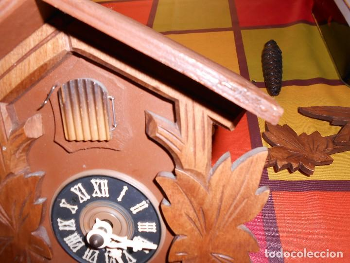 Relojes de pared: BONITO RELOJ CUCU-CUCO MECÁNICO DEL PRESTIGIOSO FABRICANTE HUBERT HERR TRIBERG(SELVA NEGRA ALEMANA). - Foto 8 - 177422252
