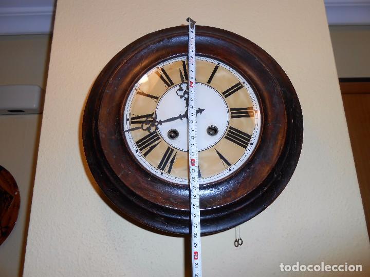 Relojes de pared: ANTIGUO RELOJ DE PARED DEL AÑO 1850/1870 APROXIMADAMENTE. - Foto 2 - 93091305