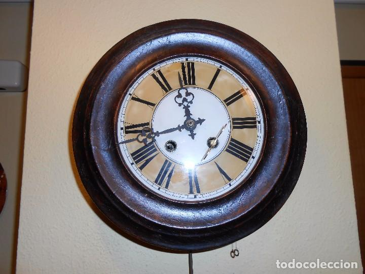 Relojes de pared: ANTIGUO RELOJ DE PARED DEL AÑO 1850/1870 APROXIMADAMENTE. - Foto 3 - 93091305
