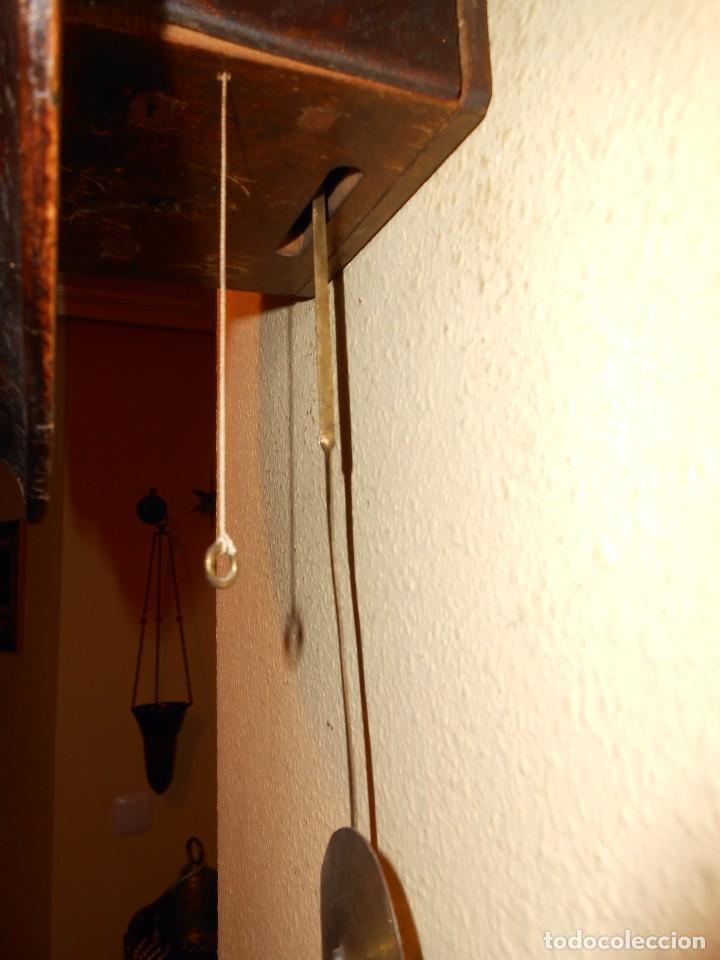 Relojes de pared: ANTIGUO RELOJ DE PARED DEL AÑO 1850/1870 APROXIMADAMENTE. - Foto 7 - 93091305