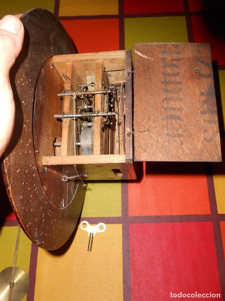 Relojes de pared: ANTIGUO RELOJ DE PARED DEL AÑO 1850/1870 APROXIMADAMENTE. - Foto 14 - 93091305