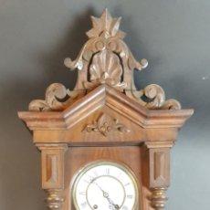 Relojes de pared: RELOJ DE PARED. MADERA DE NOGAL. WERNER UHRENFABRIK. AUSTRIA. SIGLO XIX-XX. . Lote 94542675
