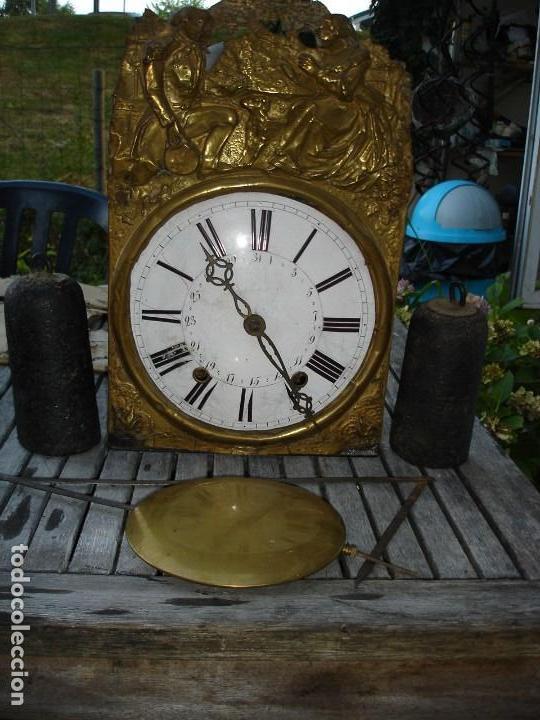 RELOJ MORETZ CON SUS PESAS Y PENDULO NO SE SI MARCHA O NO ESTA COMPLETO (Relojes - Pared Carga Manual)