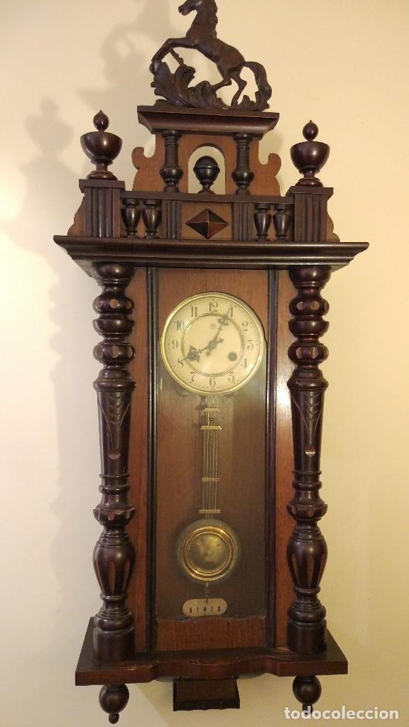 RELOJ DE PARED JUNGHANS CON SONERIA - PRINCIPIO SIGLO XX (Relojes - Pared Carga Manual)