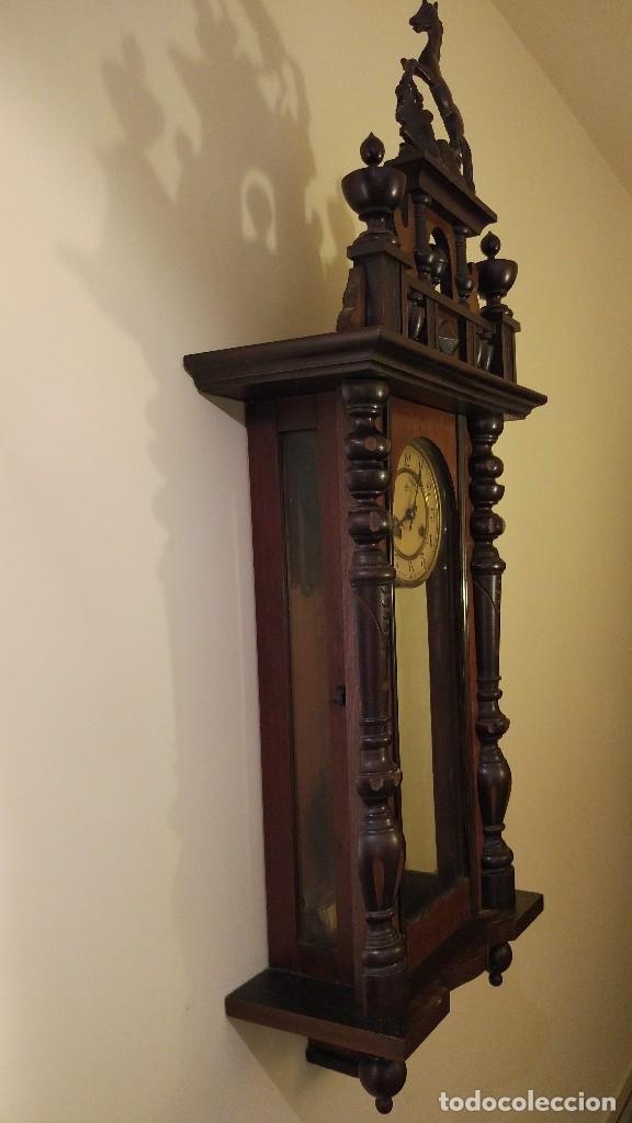 Relojes de pared: Reloj de pared Junghans con soneria - principio siglo XX - Foto 2 - 96363843