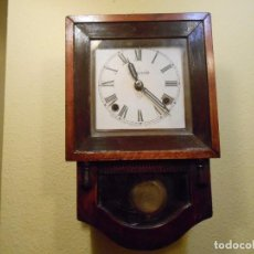 Relojes de pared: ANTIGUO RELOJ DE PARED A CUERDA ,ANSONIA ,NEW YORK(USA)POSIBLEMENTE PRINCIPIOS DEL 1900-1920.. Lote 96881327