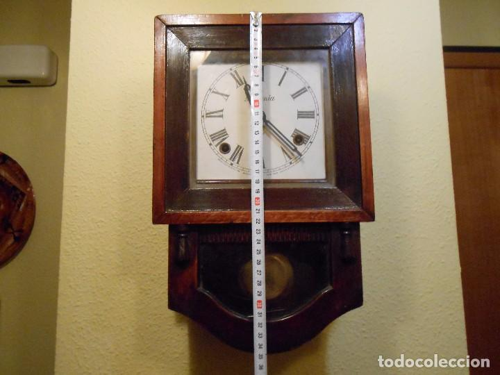 Relojes de pared: ANTIGUO RELOJ DE PARED A CUERDA ,ANSONIA ,NEW YORK(USA)POSIBLEMENTE PRINCIPIOS DEL 1900-1920. - Foto 2 - 96881327