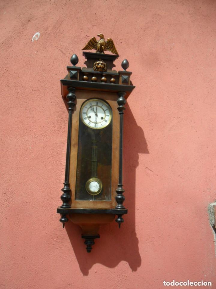 Relojes de pared: RELOJ DE PARED EN MADERA DE NOGAL Y MAQUINARIA JUNGANS PRINCIPIOS DEL SIGLO XX - Foto 2 - 97469243