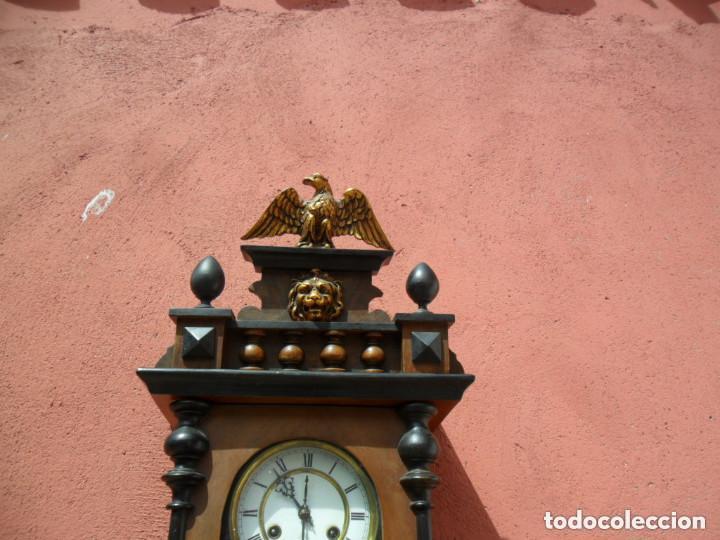 Relojes de pared: RELOJ DE PARED EN MADERA DE NOGAL Y MAQUINARIA JUNGANS PRINCIPIOS DEL SIGLO XX - Foto 4 - 97469243
