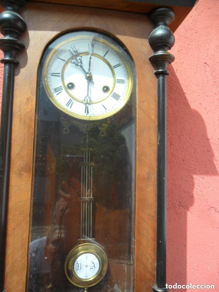 Relojes de pared: RELOJ DE PARED EN MADERA DE NOGAL Y MAQUINARIA JUNGANS PRINCIPIOS DEL SIGLO XX - Foto 5 - 97469243
