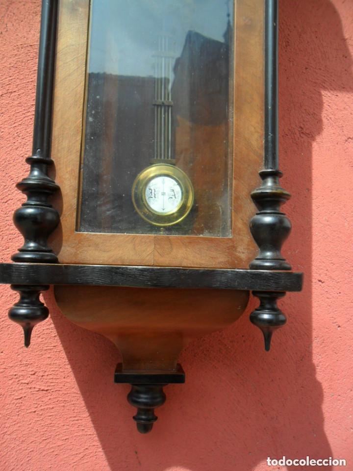 Relojes de pared: RELOJ DE PARED EN MADERA DE NOGAL Y MAQUINARIA JUNGANS PRINCIPIOS DEL SIGLO XX - Foto 6 - 97469243