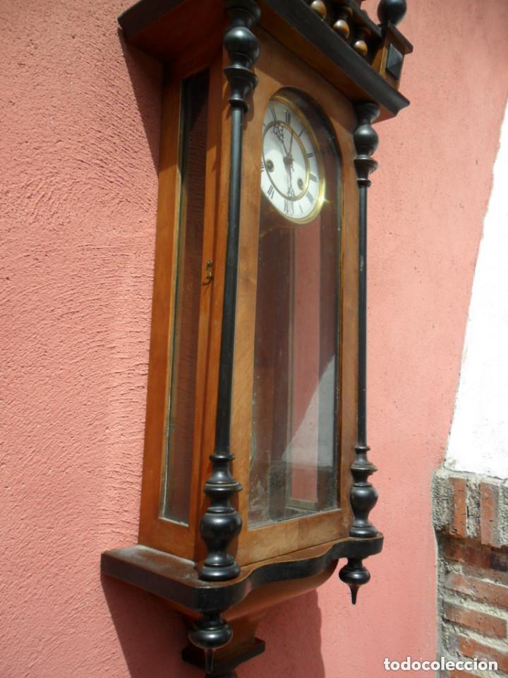 Relojes de pared: RELOJ DE PARED EN MADERA DE NOGAL Y MAQUINARIA JUNGANS PRINCIPIOS DEL SIGLO XX - Foto 7 - 97469243