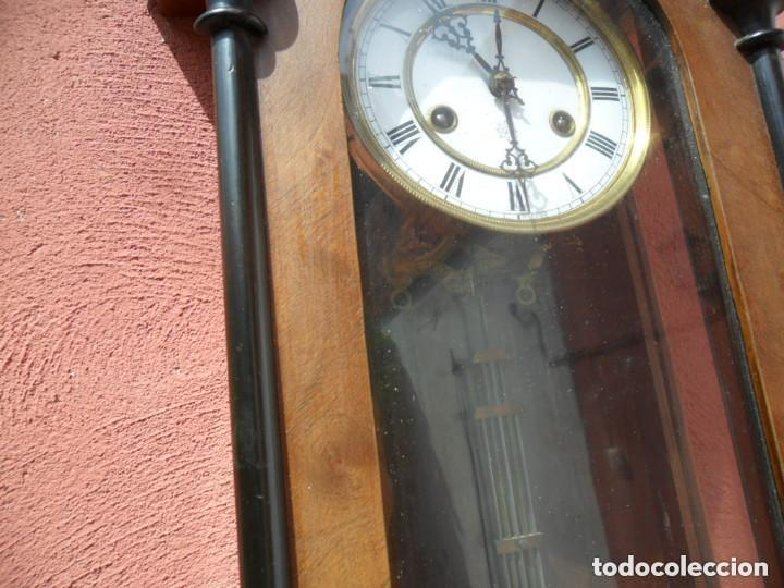 Relojes de pared: RELOJ DE PARED EN MADERA DE NOGAL Y MAQUINARIA JUNGANS PRINCIPIOS DEL SIGLO XX - Foto 8 - 97469243