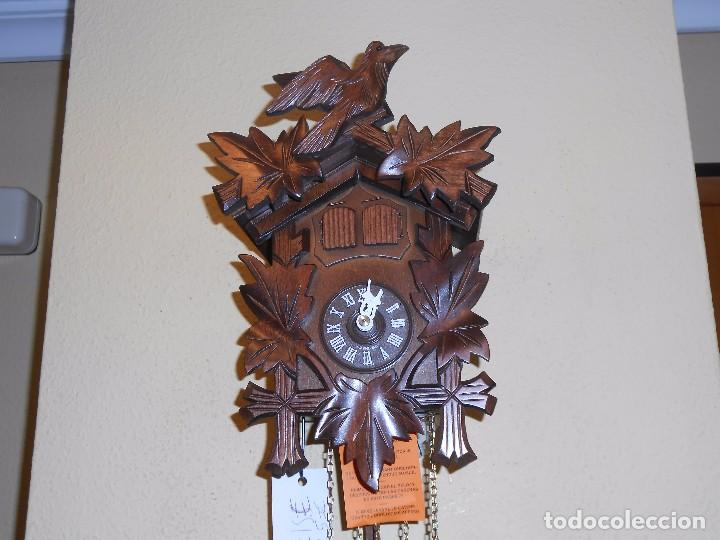 Relojes de pared: RELOJ CUCU-CUCO MUSICAL DE DOS PUERTAS( SELVA NEGRA- ALEMANIA).MECÁNICO.NUEVO A ESTRENAR. - Foto 8 - 97508031