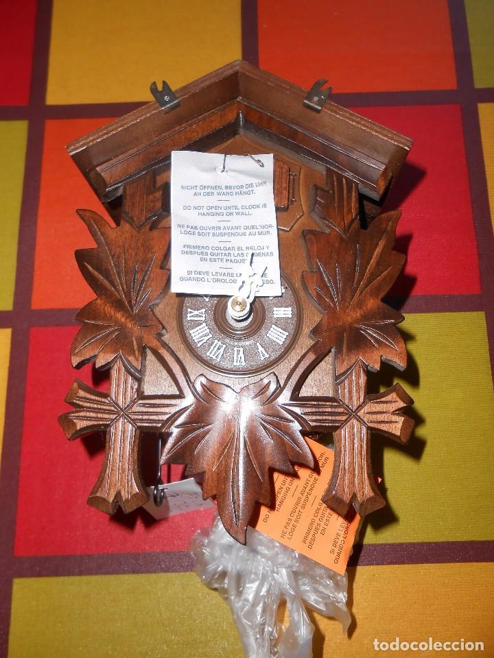 Relojes de pared: RELOJ CUCU-CUCO MUSICAL DE DOS PUERTAS( SELVA NEGRA- ALEMANIA).MECÁNICO.NUEVO A ESTRENAR. - Foto 9 - 97508031