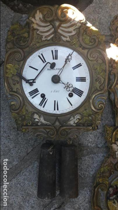 RELOJ MOREZ AUTÓMATA S.XIX.FRANCIA (Relojes - Pared Carga Manual)