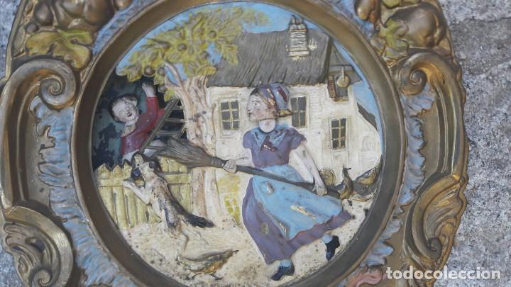 Relojes de pared: reloj morez autómata s.XIX.Francia - Foto 3 - 97647115