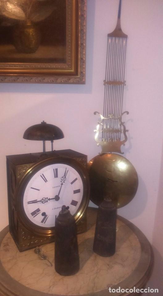RELOJ MOREZ RELOJ MOREZ SIGLO XIX. (Relojes - Pared Carga Manual)