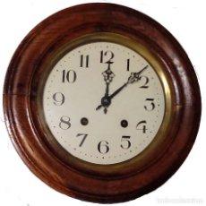 Relojes de pared: ANTIGUO RELOJ OJO DE BUEY , MÁQUINA MOREZ, NUMEROS ARÁBIGOS. Lote 98646319