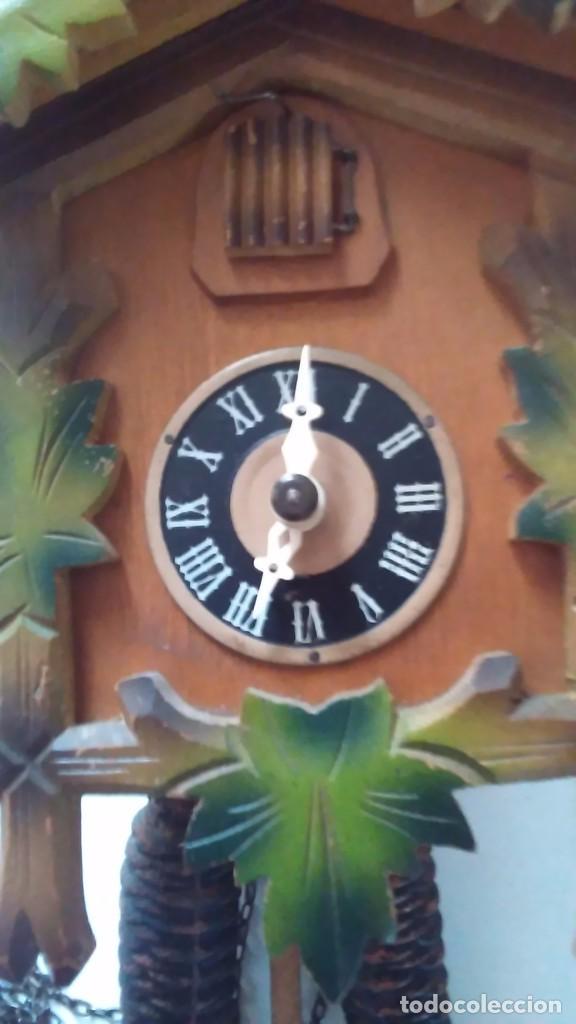 Relojes de pared: Reloj de cuco tipo Selva Negra con pesas y péndulo - Foto 4 - 113396056