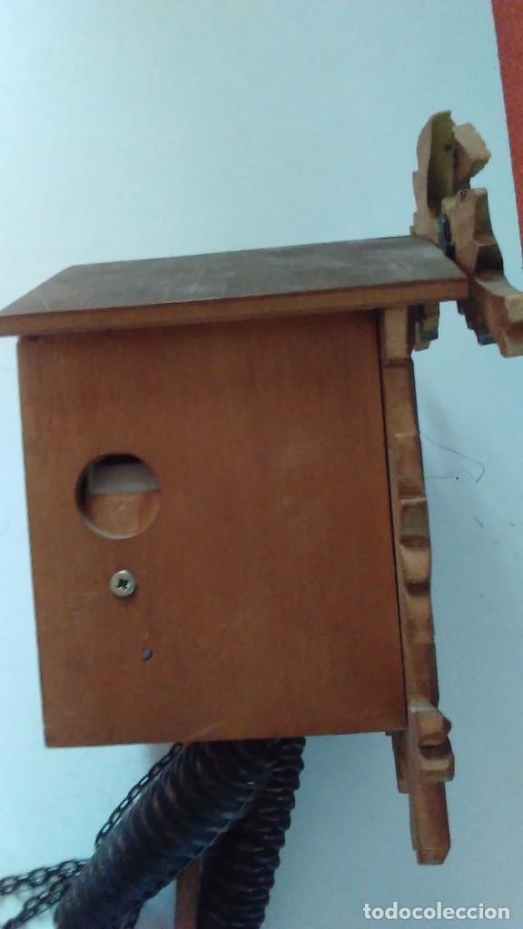 Relojes de pared: Reloj de cuco tipo Selva Negra con pesas y péndulo - Foto 5 - 113396056
