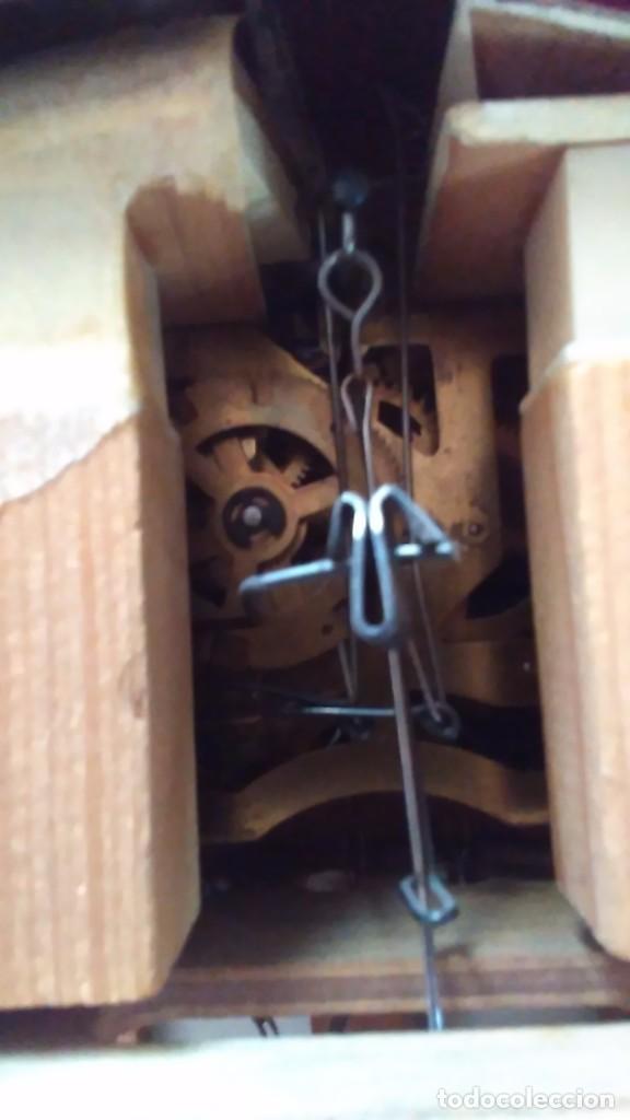 Relojes de pared: Reloj de cuco tipo Selva Negra con pesas y péndulo - Foto 6 - 113396056