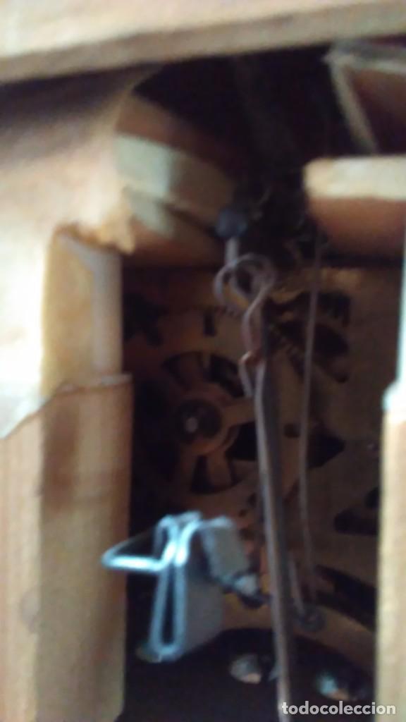 Relojes de pared: Reloj de cuco tipo Selva Negra con pesas y péndulo - Foto 7 - 113396056