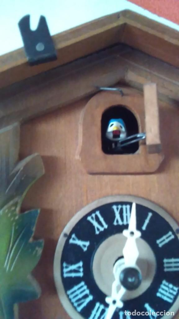 Relojes de pared: Reloj de cuco tipo Selva Negra con pesas y péndulo - Foto 11 - 113396056