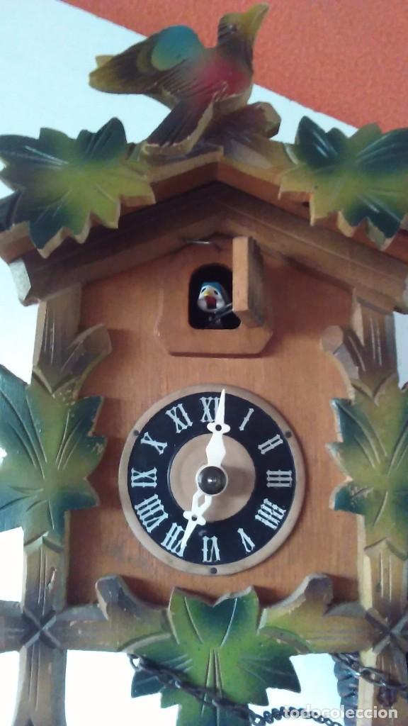 Relojes de pared: Reloj de cuco tipo Selva Negra con pesas y péndulo - Foto 12 - 113396056