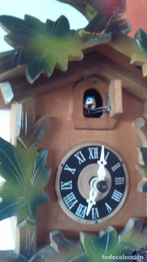 Relojes de pared: Reloj de cuco tipo Selva Negra con pesas y péndulo - Foto 13 - 113396056
