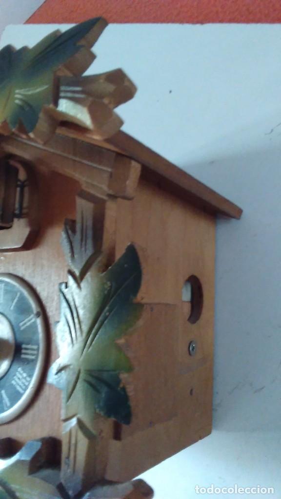 Relojes de pared: Reloj de cuco tipo Selva Negra con pesas y péndulo - Foto 14 - 113396056