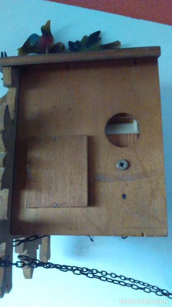 Relojes de pared: Reloj de cuco tipo Selva Negra con pesas y péndulo - Foto 15 - 113396056