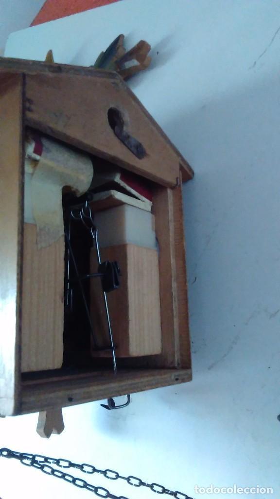 Relojes de pared: Reloj de cuco tipo Selva Negra con pesas y péndulo - Foto 16 - 113396056