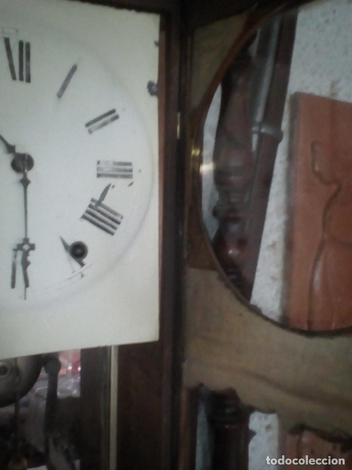 Relojes de pared: RELOJ DE PARED ANTIGUO 1910 AMERICANO MARCA ANGLO JEROME & CO FUNCIONANDO VER FOTOS - Foto 16 - 83912736