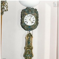 Relojes de pared: IMPORTANTE RELOJ MOREZ. PÉNDULO ARTICULADO. Lote 100333063