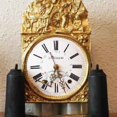 Relojes de pared: IMPRESIONANTE RELOJ MOREZ CON CALENDARIO RECIEN RESTAURADO JEAN BARRERE BAGNERES DE LUCHON (FRANCIA). Lote 100506215