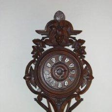 Relojes de pared: RELOJ PARED TALLADO SELVA NEGRA - JUNGHANS 1917. Lote 100716391