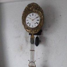 Relojes de pared: RELOJ MOREZ ANTIGUO BUENOS DETALLES BUEN ESTADO FUNCIONA PARA COLECION . Lote 101082567