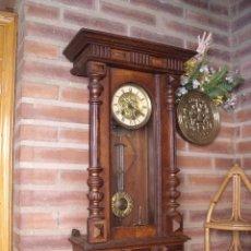 Relojes de pared: ANTIGUO RELOJ HENRII JAPY FRERES DE FRANCIA EN NOGAL -AÑO 1900. Lote 101296539
