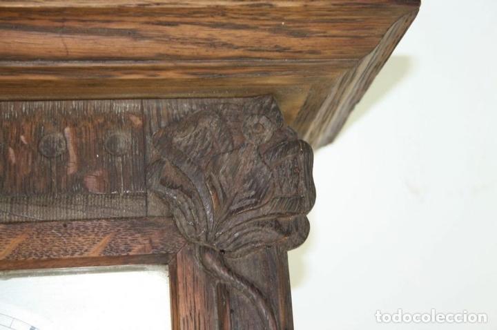 Relojes de pared: RELOJ DE PARED MODERNISTA. MADERA DE ROBLE. PRINCIPIOS SIGLO XX - Foto 2 - 101288252