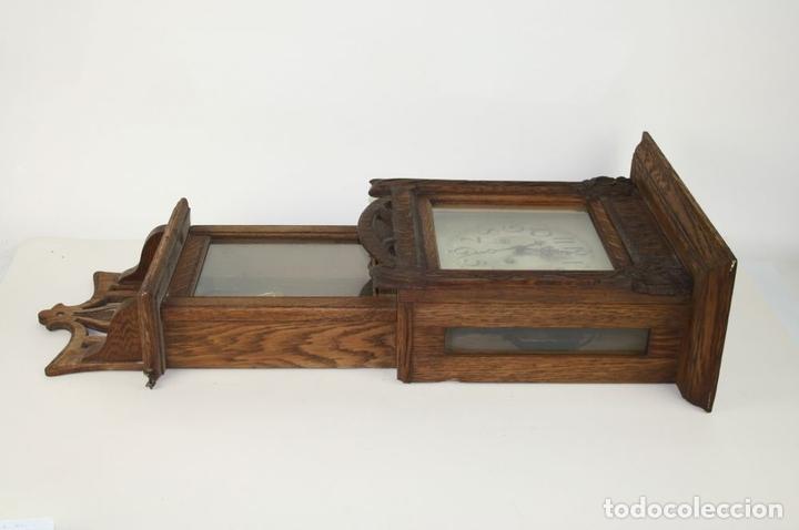 Relojes de pared: RELOJ DE PARED MODERNISTA. MADERA DE ROBLE. PRINCIPIOS SIGLO XX - Foto 7 - 101288252