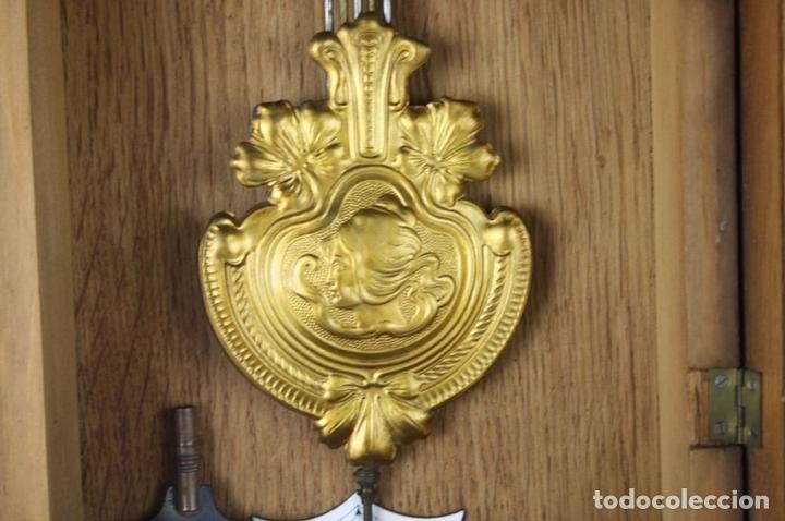Relojes de pared: RELOJ DE PARED MODERNISTA. MADERA DE ROBLE. PRINCIPIOS SIGLO XX - Foto 10 - 101288252