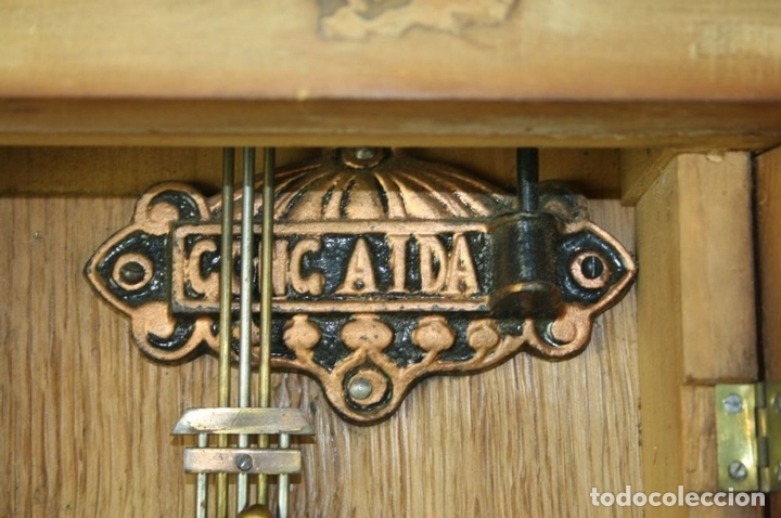 Relojes de pared: RELOJ DE PARED MODERNISTA. MADERA DE ROBLE. PRINCIPIOS SIGLO XX - Foto 12 - 101288252