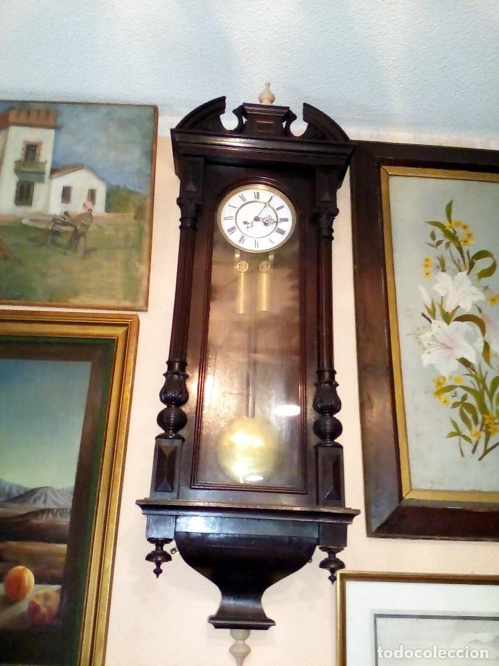 RELOJ DE PARED CARGA MANUAL ANTIGUO REGULADOR DE VIENA (Relojes - Pared Carga Manual)
