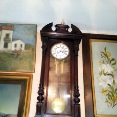 Relojes de pared: RELOJ DE PARED CARGA MANUAL ANTIGUO REGULADOR DE VIENA. Lote 101460583