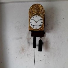 Relojes de pared: RELOJ MOREZ ANTIGUO FINALES SIGLO XVIII DE CAMPANA RUEDA CATALINA CASI A ESTRENAR FUNCIONA ..MIRA. Lote 103819354