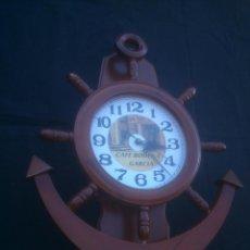 Relojes de pared: BONITO RELOJ PUBLICIDAD TIMON ANCLA DECORACION NAUTICA. Lote 103280527