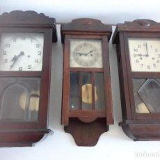 Relojes de pared: LOTE - RELOJES PARED - S XIX/XX. Lote 103412587