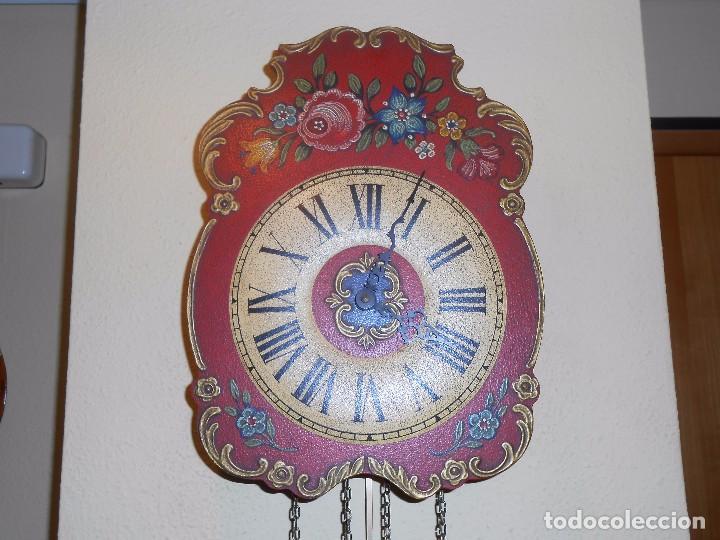 Relojes de pared: GRAN RELOJ ESCUDO DE PARED XL, CUERDA 7-8 DÍAS. - Foto 5 - 103981547